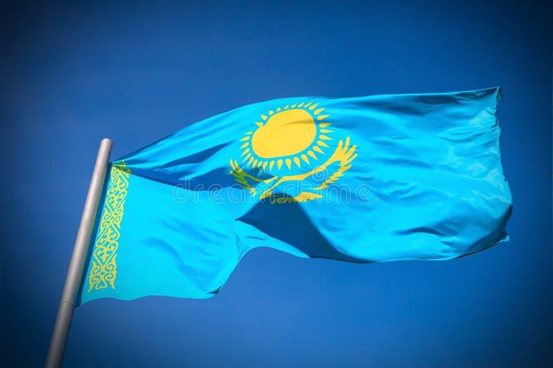 Bandera de Kazajistán imágenes de archivo libres de regalías