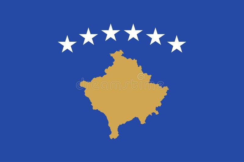 Bandera de Kosovo para el Día de la Independencia y el ejemplo infographic del vector Colores y proporción oficiales correctament ilustración del vector
