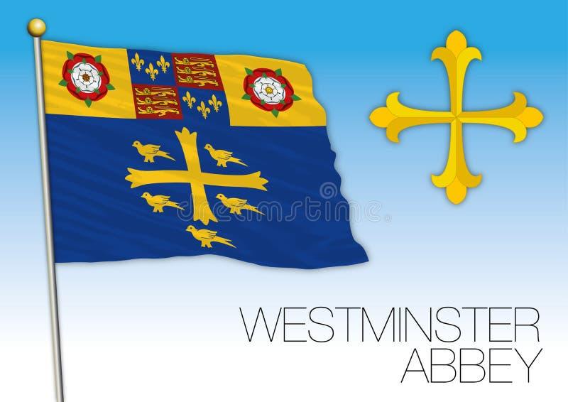 Bandera de la abadía de Westminster, Reino Unido, Europa ilustración del vector