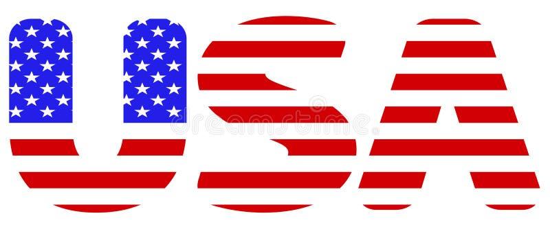 Bandera de la abreviatura de los E.E.U.U. ilustración del vector