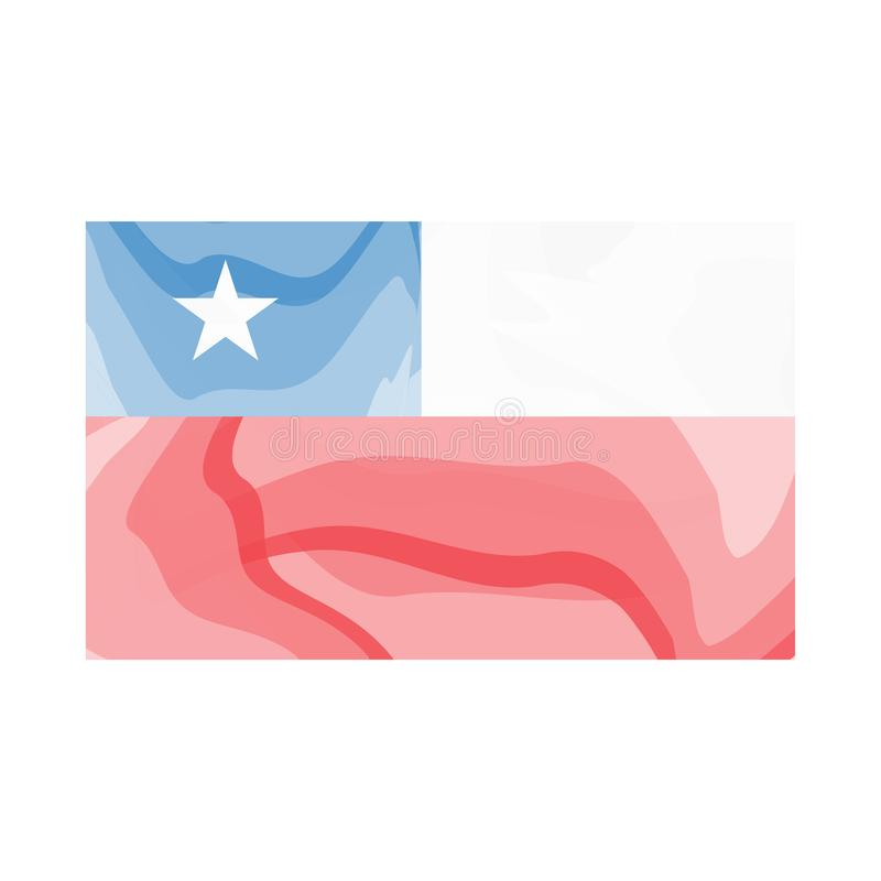 Bandera de la acuarela de Chile libre illustration