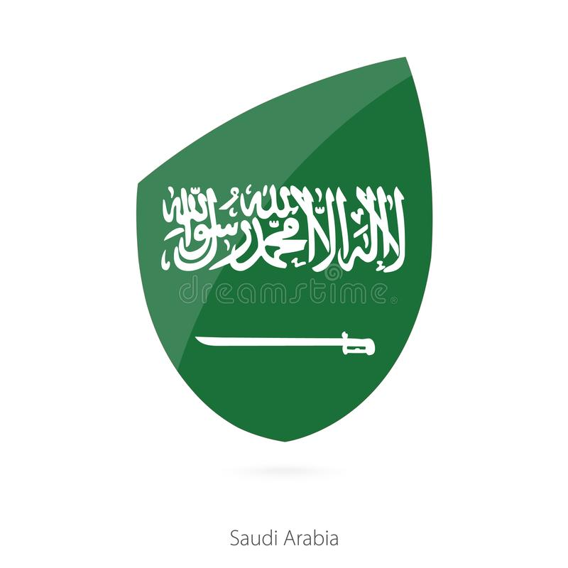 Bandera de la Arabia Saudita stock de ilustración