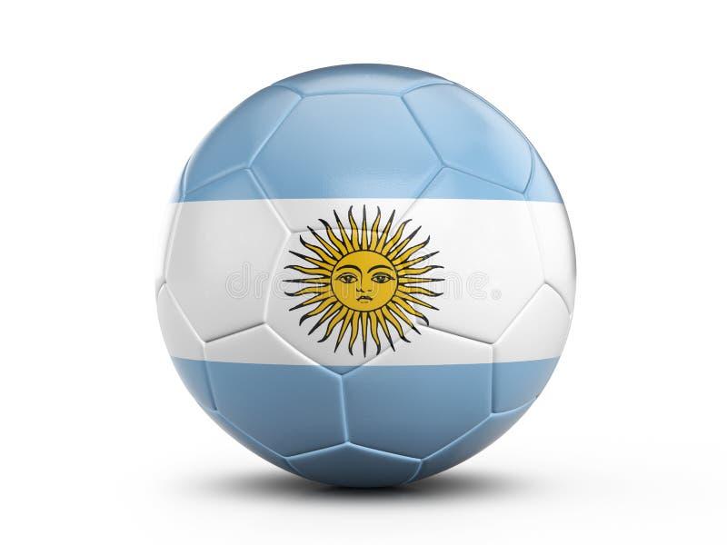 Bandera de la Argentina del balón de fútbol ilustración del vector