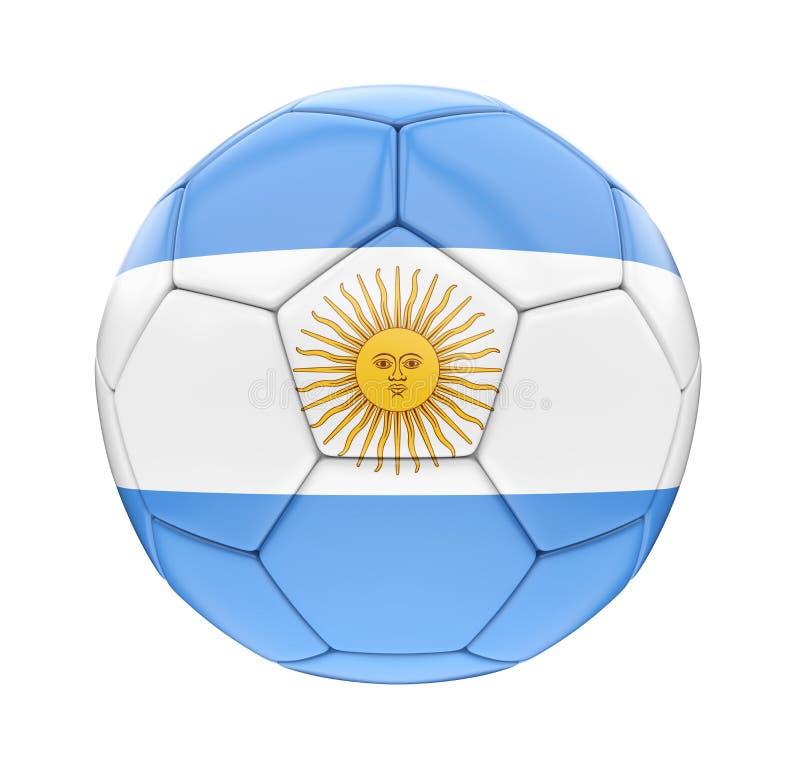 Bandera de la Argentina del balón de fútbol aislada ilustración del vector