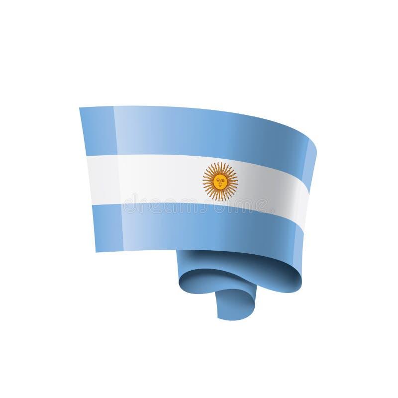 Bandera de la Argentina, ejemplo del vector en un fondo blanco ilustración del vector