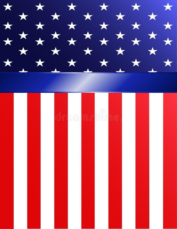 Bandera de la bandera americana ilustración del vector