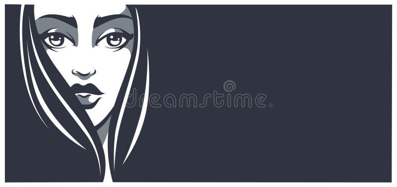 Bandera de la belleza ilustración del vector