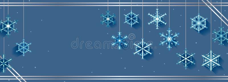 Bandera de la caída del copo de nieve libre illustration