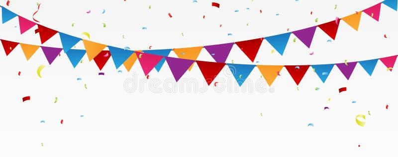 Bandera de la celebración del cumpleaños stock de ilustración