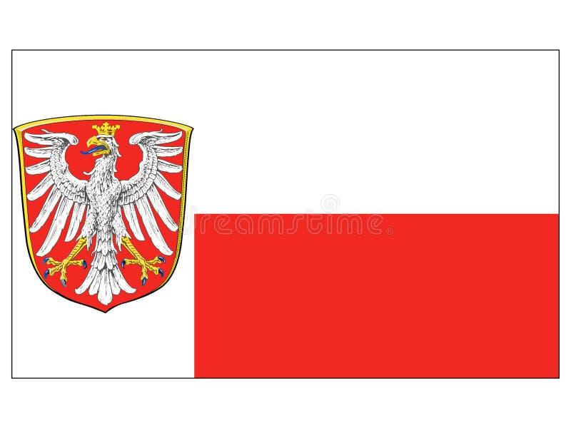 Bandera de la ciudad alemana de Francfort libre illustration
