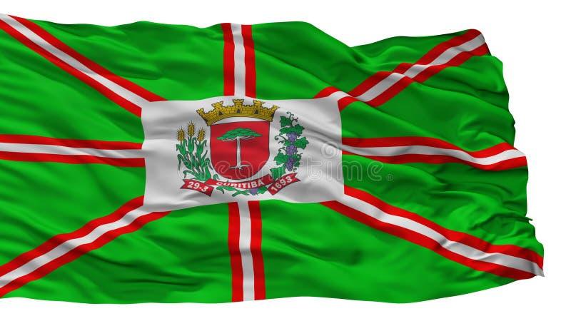 Bandera de la ciudad de Curitiba, el Brasil, aislado en el fondo blanco ilustración del vector