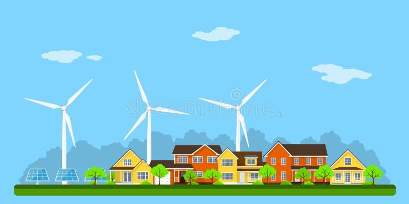 Bandera de la ciudad de Eco ilustración del vector