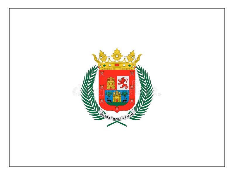 Bandera de la ciudad española del Las Palmas stock de ilustración