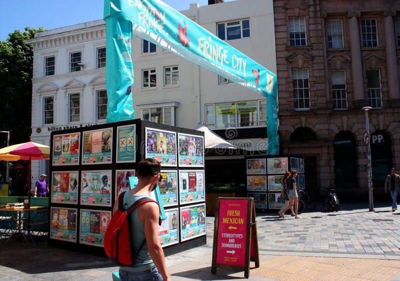 Bandera de la ciudad de la franja en Brighton durante Brighton Festival fotografía de archivo