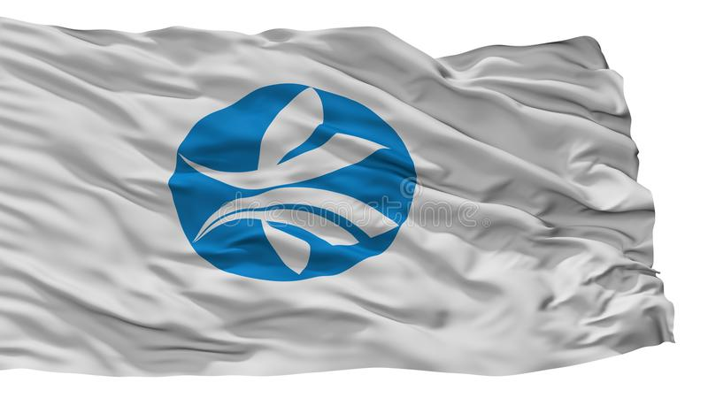 Bandera de la ciudad de Kizugawa, Japón, prefectura de Kyoto, aislada en el fondo blanco stock de ilustración