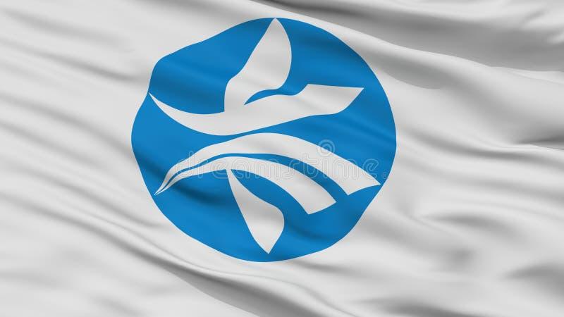 Bandera de la ciudad de Kizugawa, Japón, prefectura de Kyoto, opinión del primer ilustración del vector