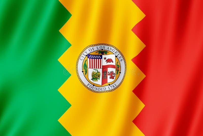 Bandera de la ciudad de Los Ángeles, California los E.E.U.U. libre illustration