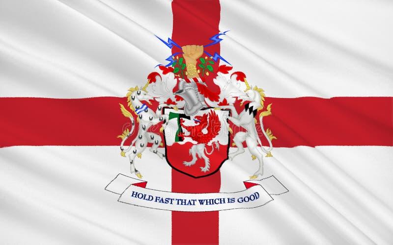 Bandera de la ciudad metropolitana de la ciudad de Trafford, Inglaterra imágenes de archivo libres de regalías