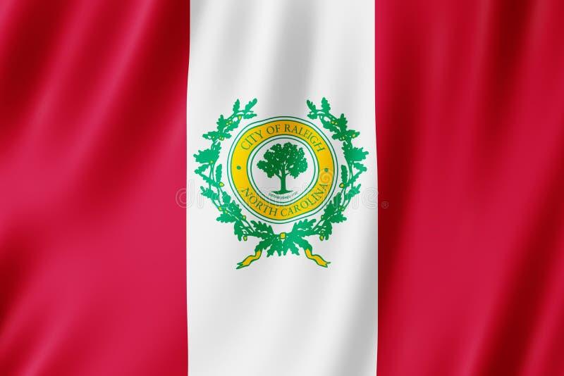 Bandera de la ciudad de Raleigh, Carolina del Norte los E.E.U.U. libre illustration