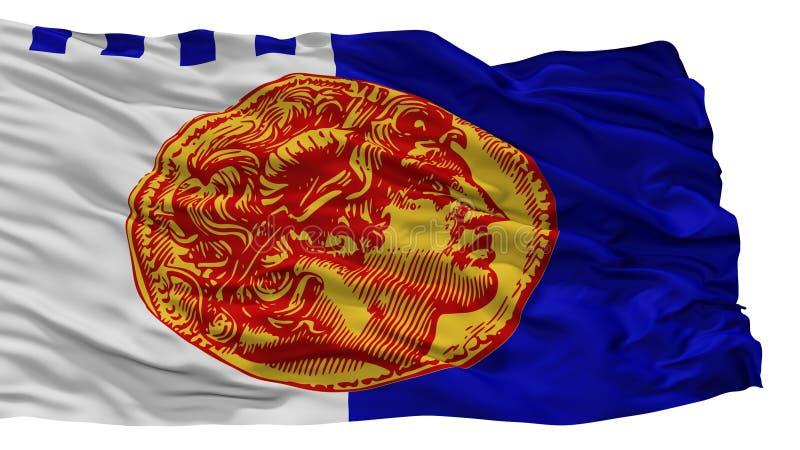 Bandera de la ciudad de Salónica, Grecia, aislada en el fondo blanco ilustración del vector