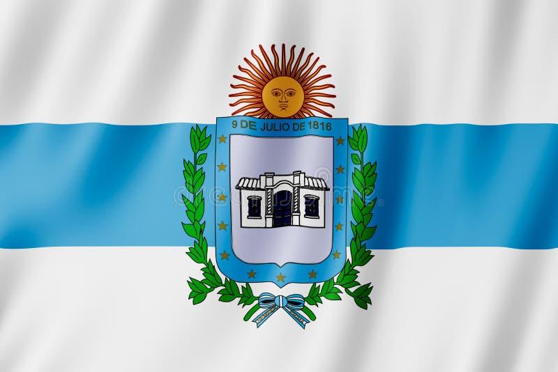 Bandera de la ciudad de Tucumán, la Argentina stock de ilustración