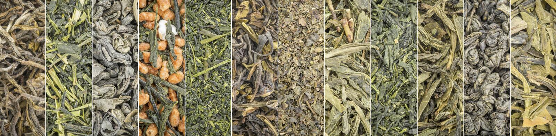 Bandera de la colección del té verde de las hojas intercambiables imagenes de archivo