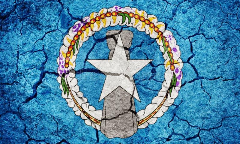 Bandera de la Commonwealth de Mariana Islands septentrional fotos de archivo