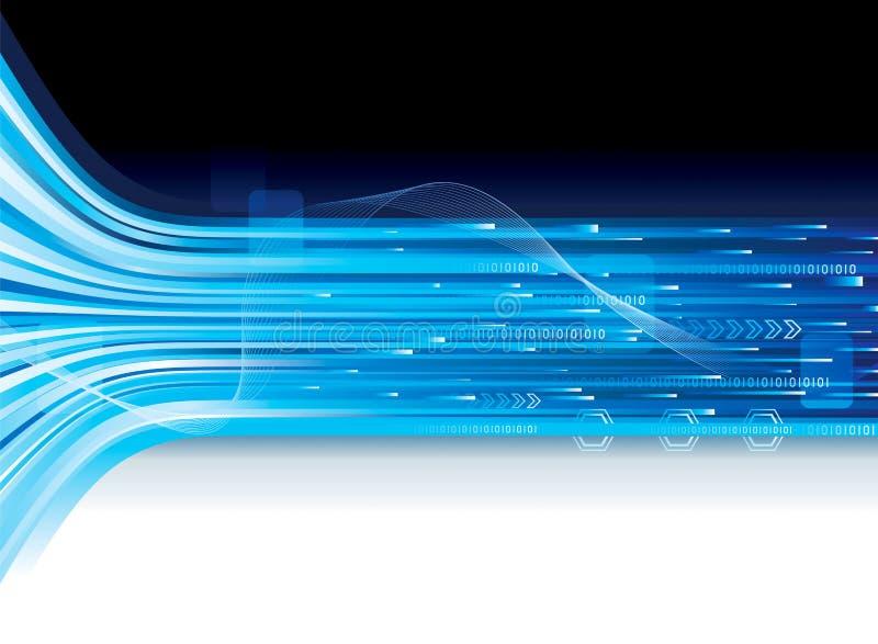 Bandera de la conexión de la tecnología stock de ilustración