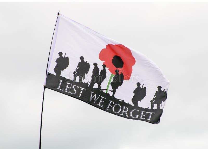 Bandera de la conmemoración imágenes de archivo libres de regalías