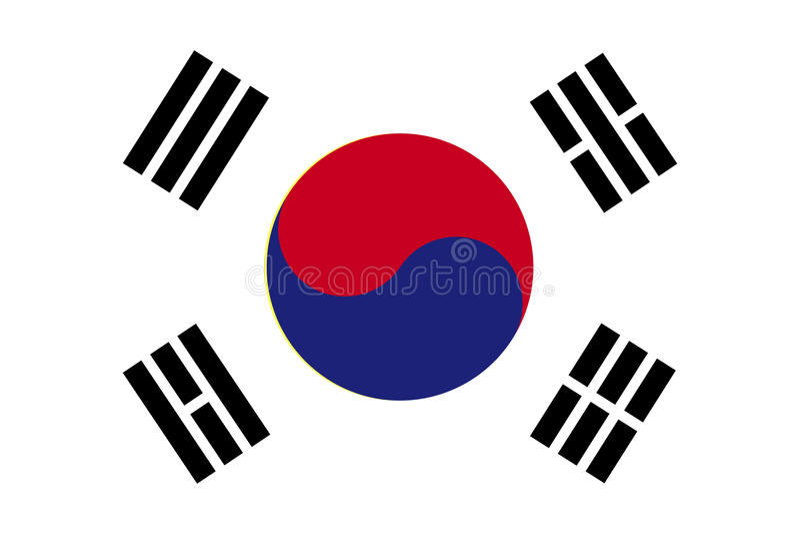 Bandera de la Corea del Sur Ilustración del vector stock de ilustración