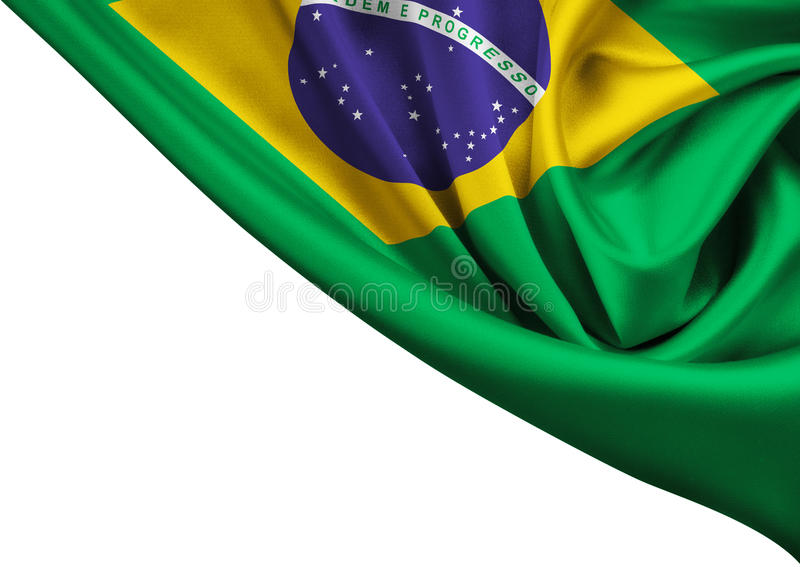 Bandera de la cosecha del Brasil aislada imagen de archivo