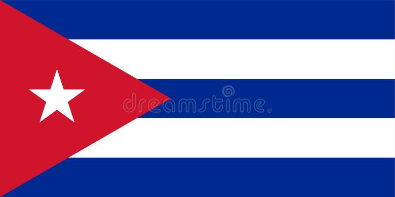 Bandera de la Cuba ilustración del vector