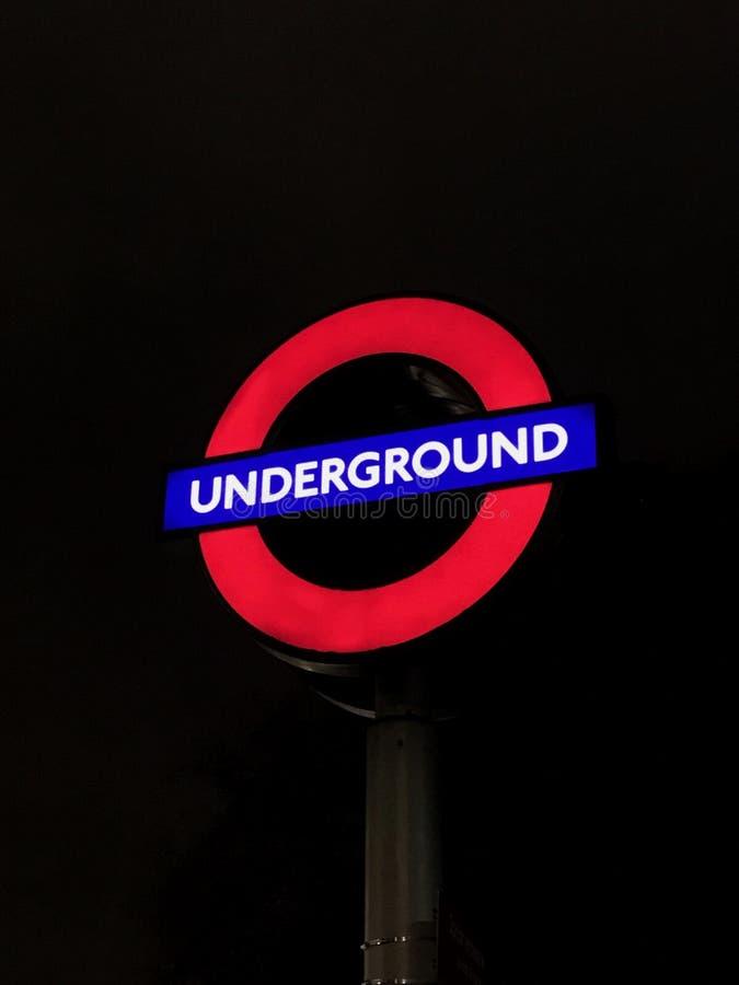 Bandera de la estación de metro imagen de archivo libre de regalías