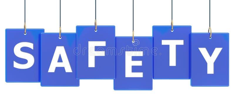 Bandera de la etiqueta de la seguridad libre illustration