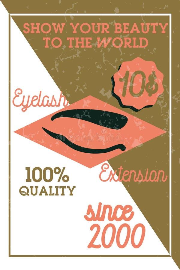 Bandera de la extensión de la pestaña del vintage del color libre illustration
