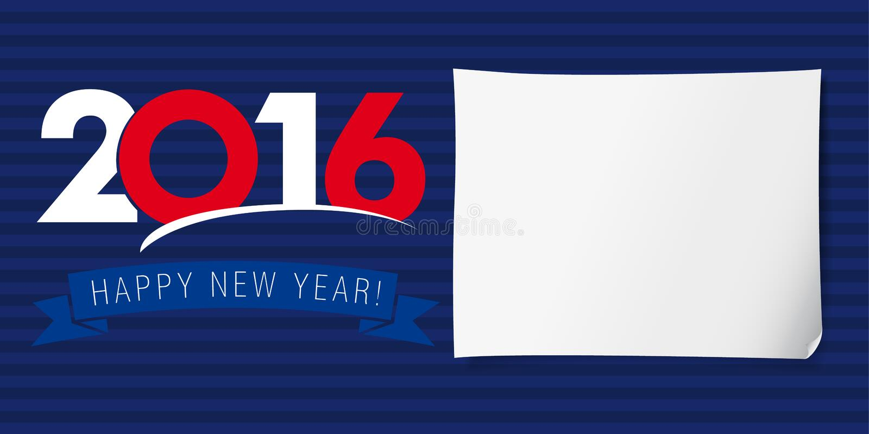 Bandera 2016 de la Feliz Año Nuevo libre illustration