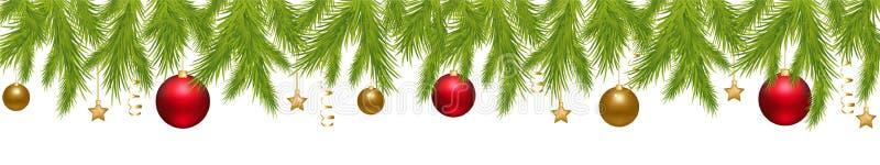 Bandera de la Feliz Navidad ilustración del vector