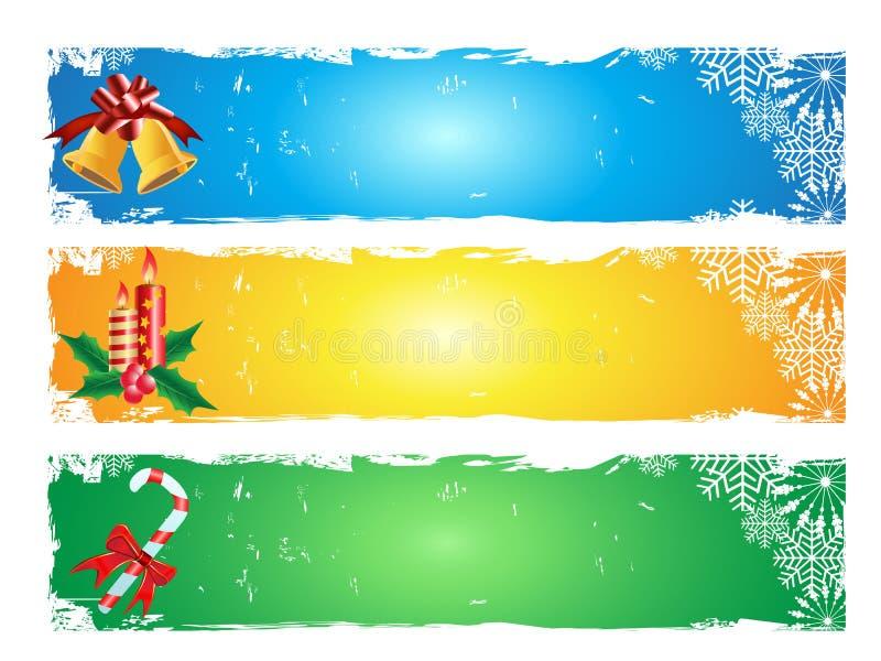 Bandera de la Feliz Navidad libre illustration