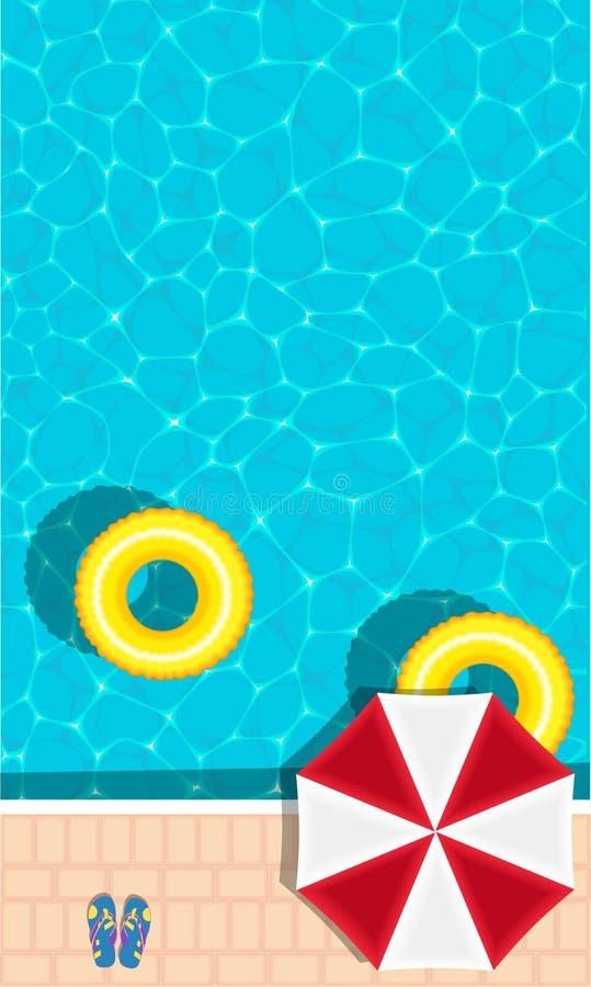 Bandera de la fiesta en la piscina del verano con el espacio para el texto libre illustration