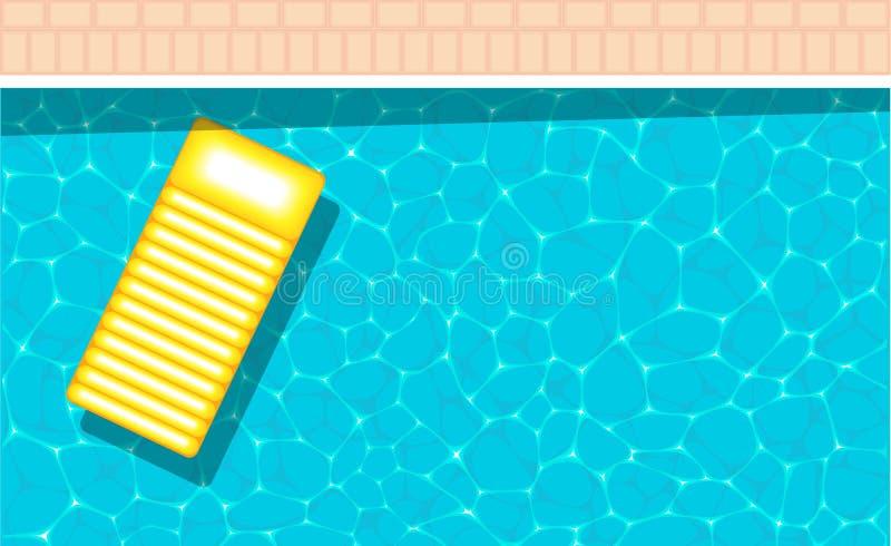 Bandera de la fiesta en la piscina del verano con el espacio para el texto ilustración del vector