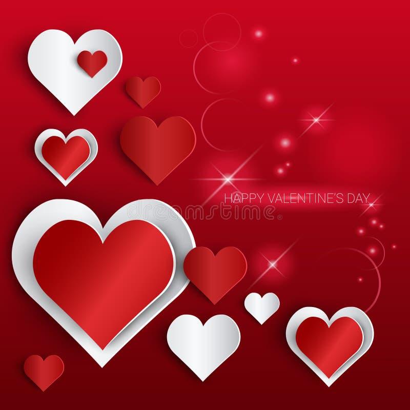 Bandera de la forma del corazón del amor de Valentine Day Gift Card Holiday con el espacio de la copia libre illustration