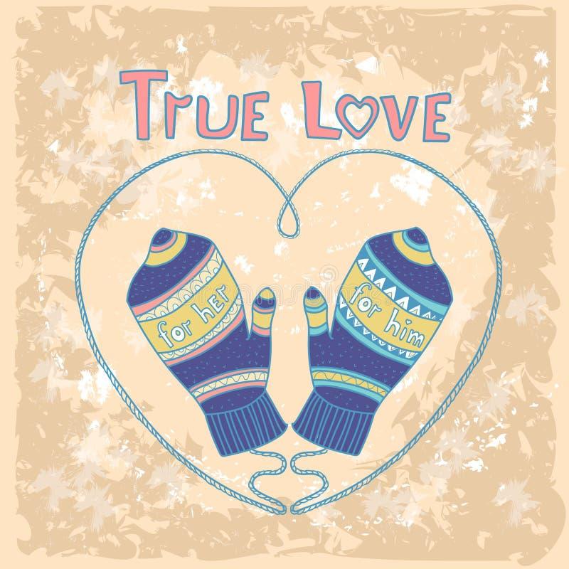 Bandera de la forma del corazón del amor de Valentine Day Gift Card Holiday con el espacio de la copia ilustración del vector
