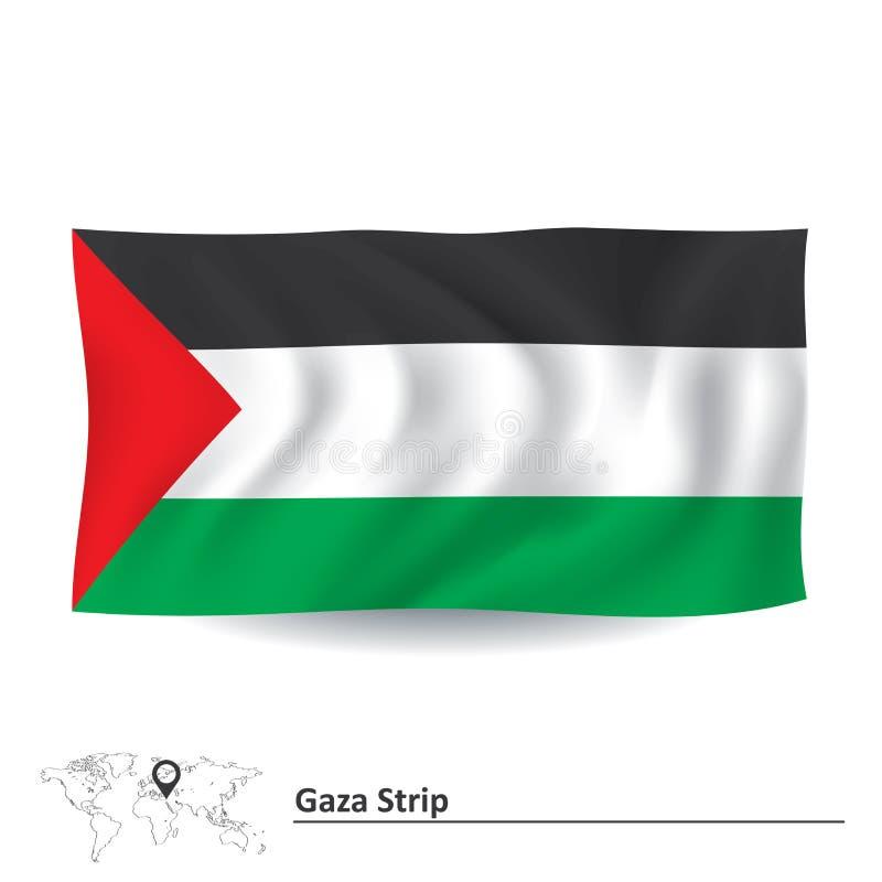Bandera de la Franja de Gaza  stock de ilustración