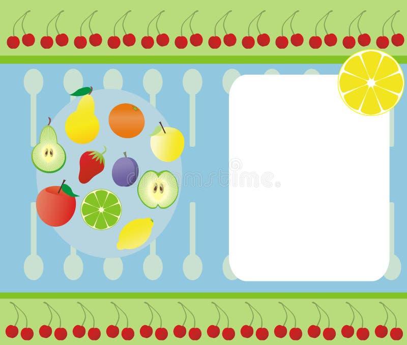 Bandera de la fruta ilustración del vector