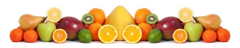 Bandera de la fruta de la comida fotos de archivo libres de regalías