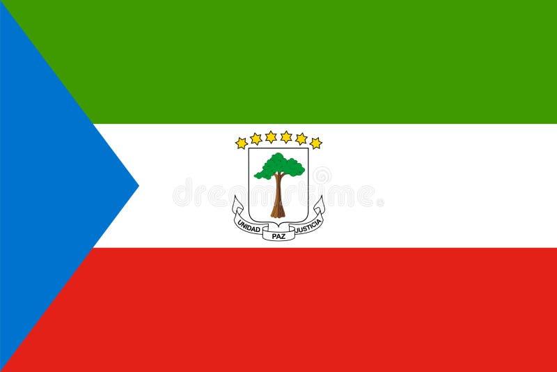 Bandera de la Guinea Ecuatorial en vector de la tarifa oficial y de los colores libre illustration