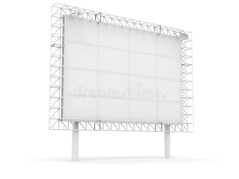 Bandera de la información de publicidad stock de ilustración