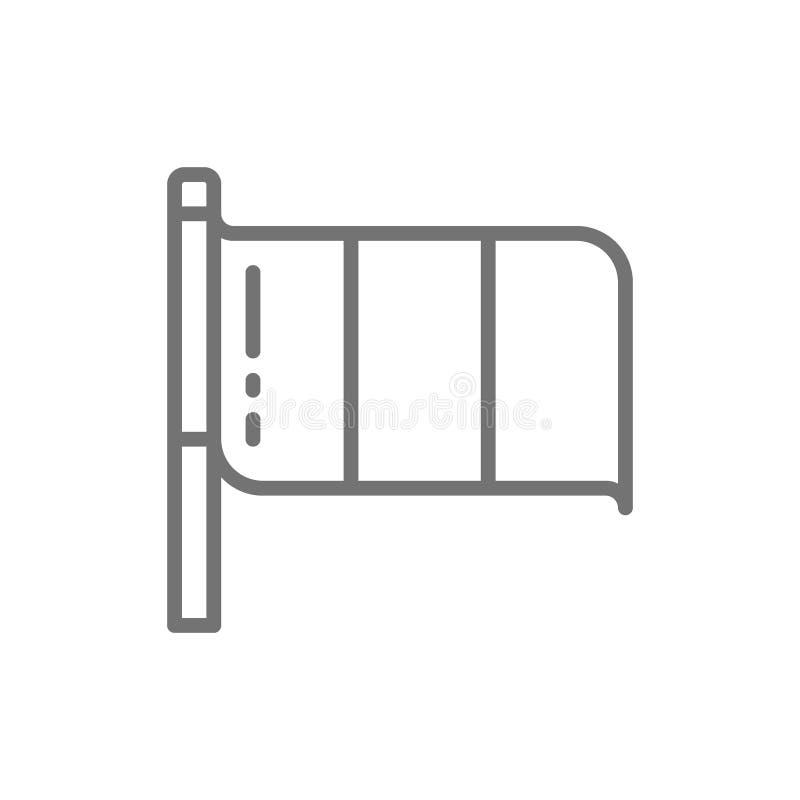 Bandera de la línea icono de Italia ilustración del vector