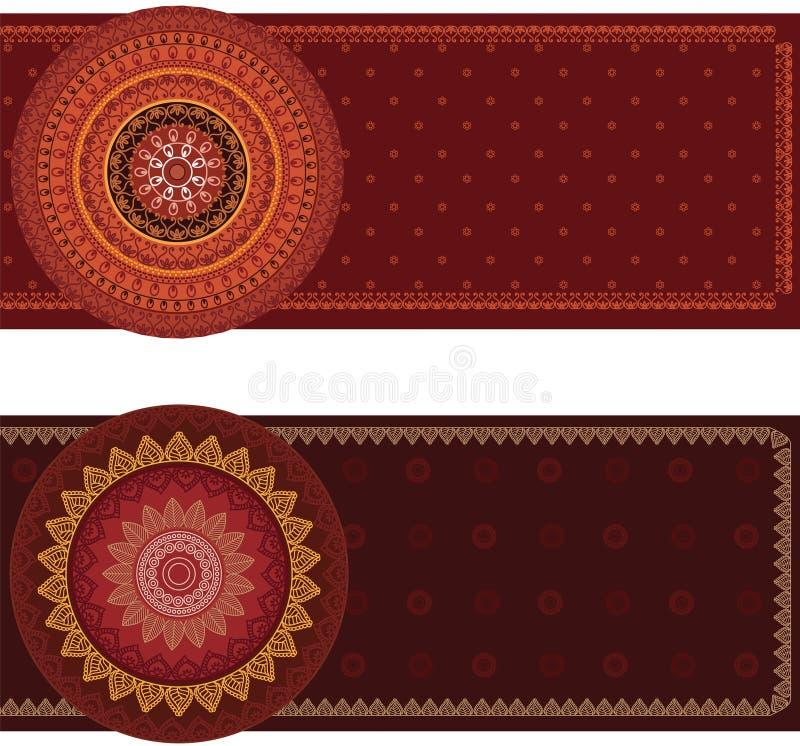 Bandera de la mandala ilustración del vector