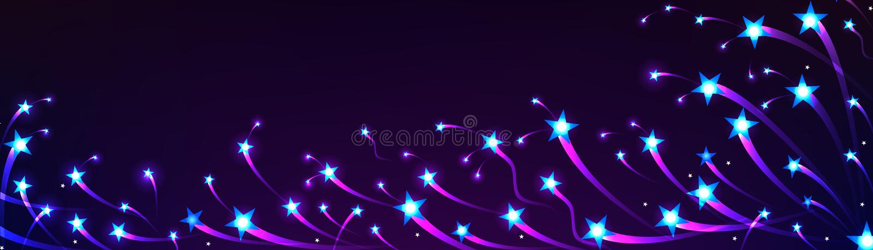 Bandera de la nadada de la estrella brillante ilustración del vector